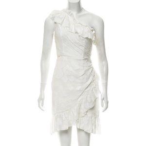 Ulla Johnson One Shoulder Dress Ivory Sx XS